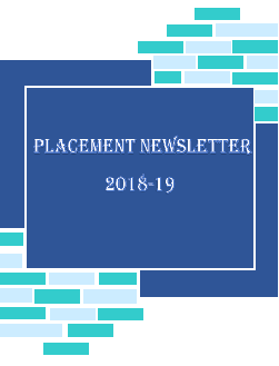 Placement Newsletter